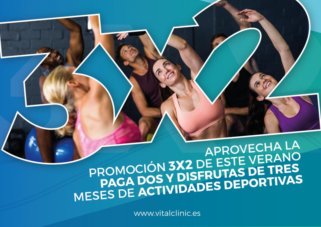3x2 en actividade deportivas en Vital&Clinic