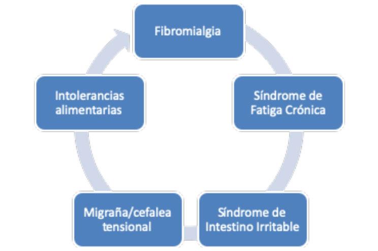 Patologías propias del síndrome de sensibilización central